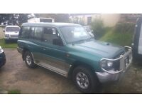 MITSUBISHI SHOGUN LWB GLS , MANUAL, 1998-R-REG, 2.8 TURBO DIESEL, 7 SEATS, COVERED 116,000 MILES,