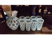 Retro jug and glasses..