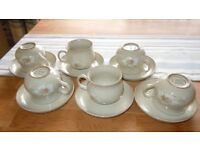 SET OF SIX DENBY CUPS AND SAUCERS