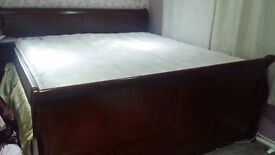 Super King Size Bed with mattress and matching furniture set