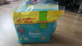 Pampers nappies 5+