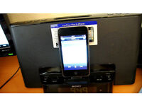 Sony Speaker Dock and Clock Radio with iPod/iPhone Dock (Black)