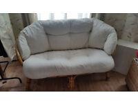 Rattan 2 seat sofa