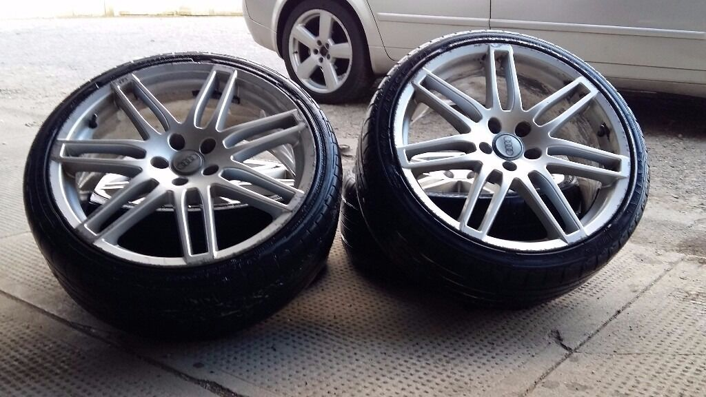 set of 4 alloys wheels 19' 5x112 audi VW mercedes ford | in Crieff