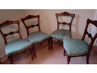 Five vintage dining room chairs