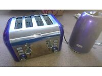 BREVILLE KETTLE AND TOASTER SET PURPLE