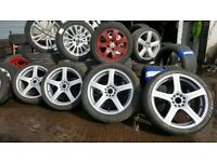 MINT 18'' MULTIFIT ALLOYS WITH FREE TYRES ,BALANCE AND FITTING ,OPEN 7 DAYS