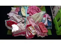 63 puece bundle of girls clothes age 6-9 months
