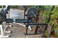 squat rack with weight bench commercial