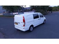 MERCEDES VITO CDI DUALINER 6 SEATER LONG WHEEL BASE 2010, NO VAT, READY FOR WORK,