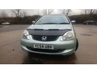 HONDA CIVIC VTEC SE AUTOMATIC// 54 PLATE///EXTRA SPOILER AND BONNET BRA/LONG MOT £1000