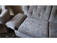 TWO SEATER SOFA AND ONE CHAIR