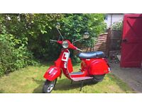 VESPA PX 125 - 16 PLATE FIRECRACKER RED - 460 MILES FROM NEW! LAST OF THE LINE OF TWO STROKES!