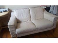 Sofa So Good! 2 x cream leather look sofas!