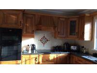 Solid Oak Kitchen including appliances