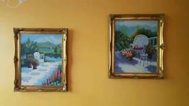 Gorgeous two Kimberley paintings in gilt frame
