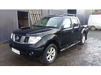 breaking black nissan navara outlaw D40 yd25 4x4 manual double cab parts spares repairs