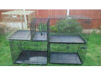 dog cages / crates dont text