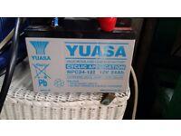 Used Yuasa NPC24-12I Battery 12V 24Ah for golf trolley