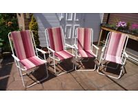 4 Picnic chairs one chair slightly marked