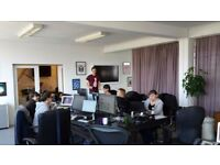 4x Large Desks (each fit 4-6 ppl) in Light, Top Floor, Central Shoreditch office opposite Boxpark