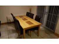 6ft SOLID OAK TABLE