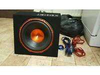 Car sub and amp with speakers