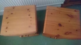 PAIR OF 3 DRAWER PINE BEDSIDE CABINETS
