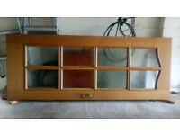 Quality Interior Hardwood Glazed Door. Inc Lock, Key + Hinges