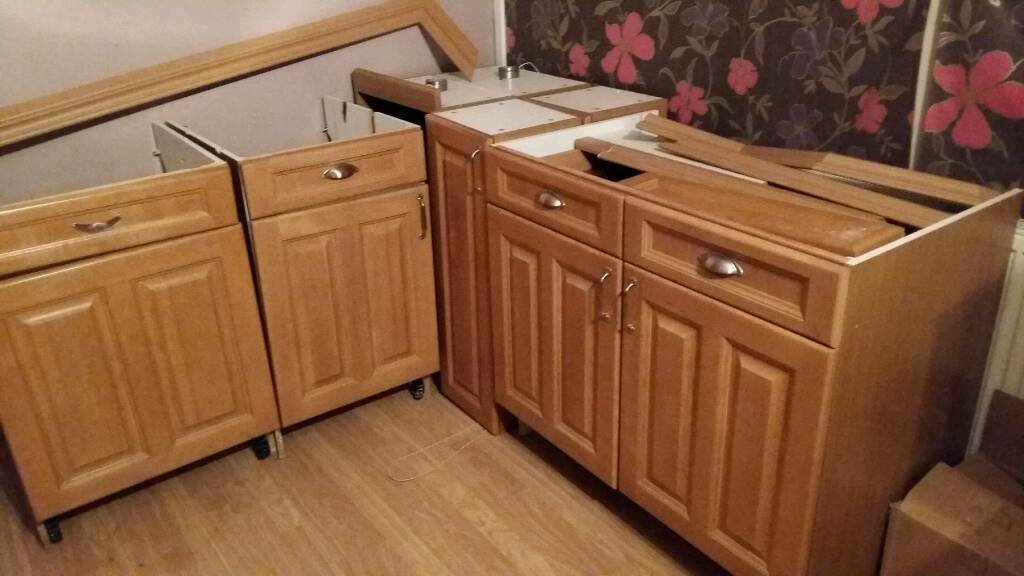 solid oak kitchen units for sale in llantwit major vale