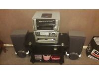 Hifi with controll and 5 cd slots