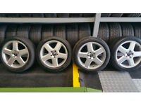 Volvo Genuine 17 alloy wheels + 4 x tyres 205 50 17