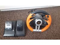 Steering wheel & pedals for PS3 & pc
