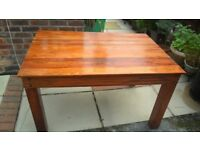 Solid wood dining table ,4 chairs and cabinet