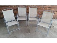 NEED EXTRA SEATS FOR XMAS SET OF 4 METAL FRAMED FOLDING CHAIRS