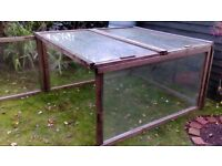 Glass Wood Frames can be made into Dutch light greenhouse etc