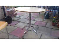 """Kitchen bistro type table 28"""" high and 31"""" across"""