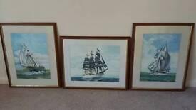 Tall ships watercolors