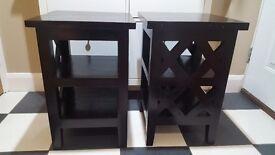 Hardwood mahogany side tables
