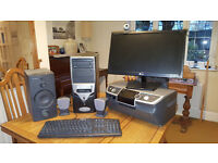 complete desk top computer system