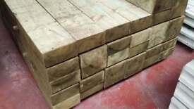 🌟 Pressure Treated Timber Railway Sleepers / Garden Borders / Fencing