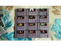 X12 Snes Super Nintendo Games NTSC