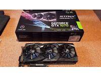 Asus GeForce GTX 1070 ROG Strix OC Edition 8GB GDDR5 VR Ready Graphics Card