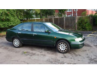 Reliable Nissan Primera automatic, good working order, low milage - sale for £300 ono, MOT until Feb