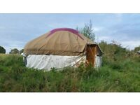 18 foot yurt,. New Canvous