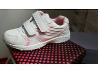 Brand new kids pink and white trainers