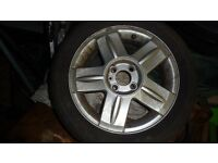 Renault Clio Alloy wheel, some minor marks but serviceable