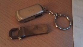 Silver flash drive 2.0 USB 2 Terabyte