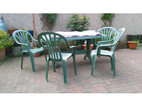 outdoor oval garden table & Chairs set
