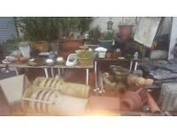 Assortment of garden equipment and accessories